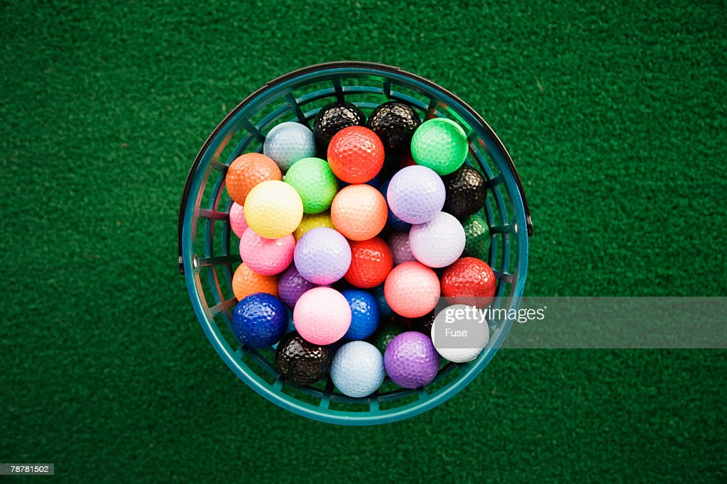 Bucket Of Colorful Golf Balls Stock Photo   Getty Images