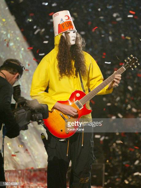 Buckethead of Guns N' Roses during 2002 MTV Video Music Awards Show at Radio City Music Hall in New York City New York United States