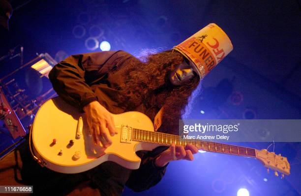 Buckethead performs with Bill Laswell's Material during Bonnaroo 2004 Day 3 Bill Laswell's Material at 'That Tent' in Manchester Tennessee