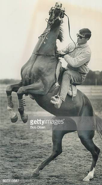 Bucking Pupil Equestrian star Jim Day attempts to control Royal Canadian a tempestuous 3yearold stallion which Day has in training at his Oakville...