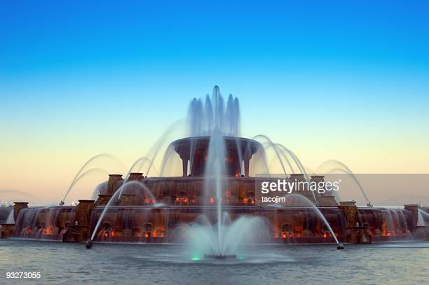 Buckingham Fountain at Sunset