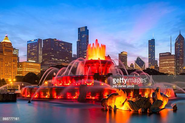 Buckingham Fountain, Chicago, Illinois, America