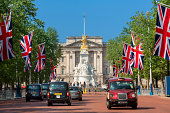 LONDON, Buckingham Palace and flags