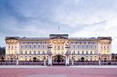 Buckingham Palace at dusk