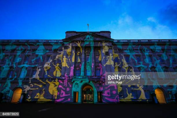 Buckingham Palace is lit with a projection of a colourful peacock at a reception this evening to mark the launch of the UKIndia Year of Culture 2017...