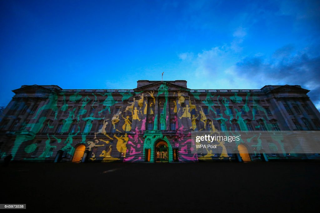 Buckingham Palace is lit with a projection of a colourful peacock at a reception this evening to mark the launch of the UK-India Year of Culture 2017 on February 27, 2017 in London, England. The reception will bring together the best of British and Indian culture and creativity, represented through a range of high profile guests with an interest in both countries. The attendees include guests from the fields of performing arts, fashion, food, literature and sport such as Kunal Nayyar, Neha Kapur, Ayesha Dharker, Kapil Dev, Rio Ferdinand, Anoushka Shankar and Joe Wright.