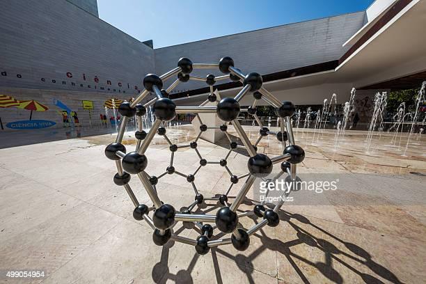 Buckminsterfullerene model in Lisbon Science Museum, Portugal