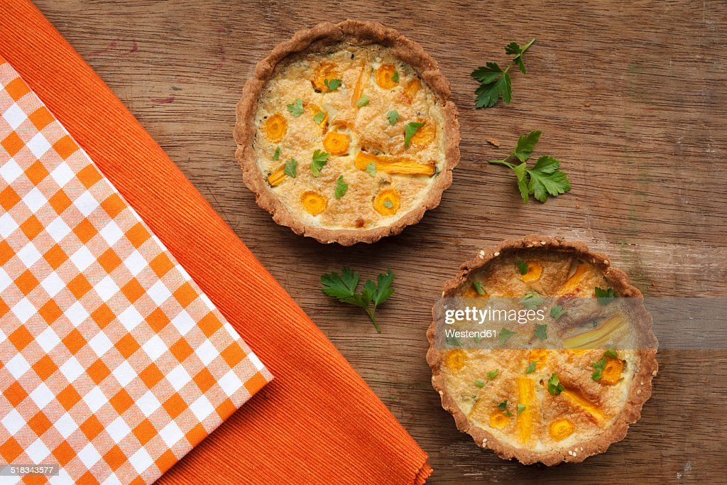 Buckwheat Carrot Tarts, Lactose-free and gluten-free