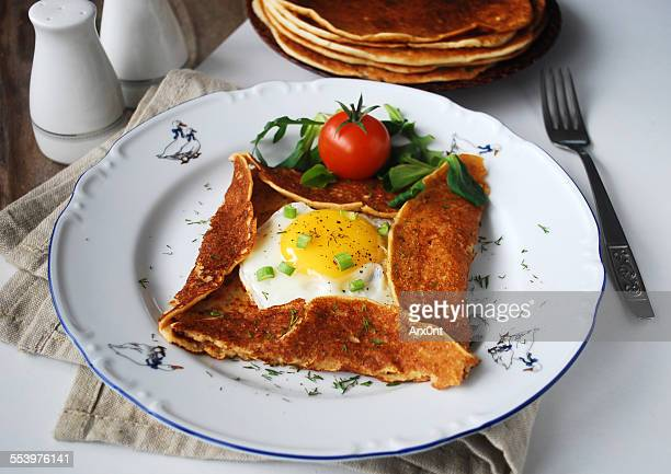 Buckwheat galette with sunny side up egg