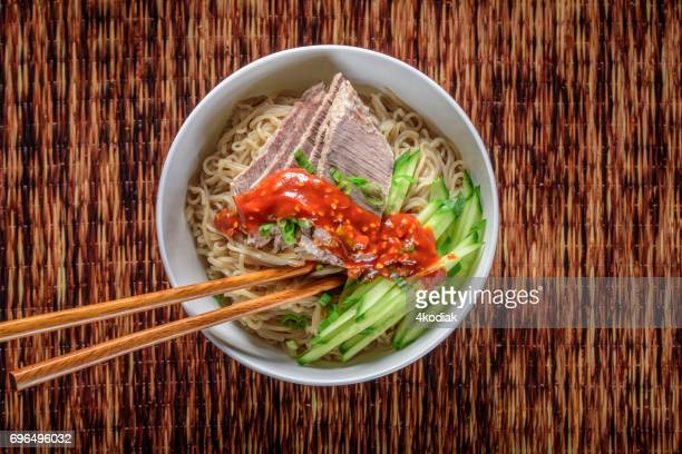 Buckwheat , Soba,Noodle with Cucumber and Boiled Eggs , Beef