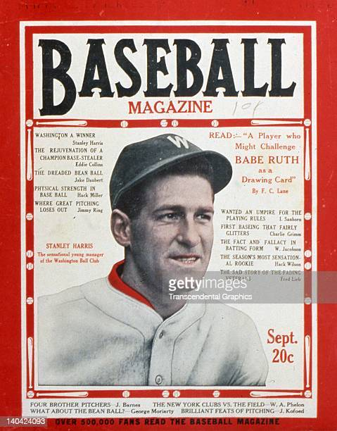 Bucky Harris manager of the Washington Senators is the cover boy for Baseball Magazine published in New York City September of 1935