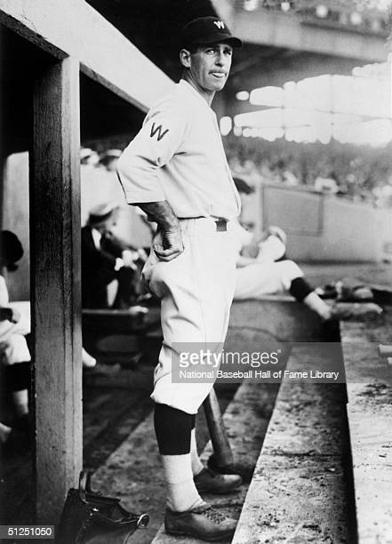 Bucky Harris of the Washingon Senators stands in the dugout