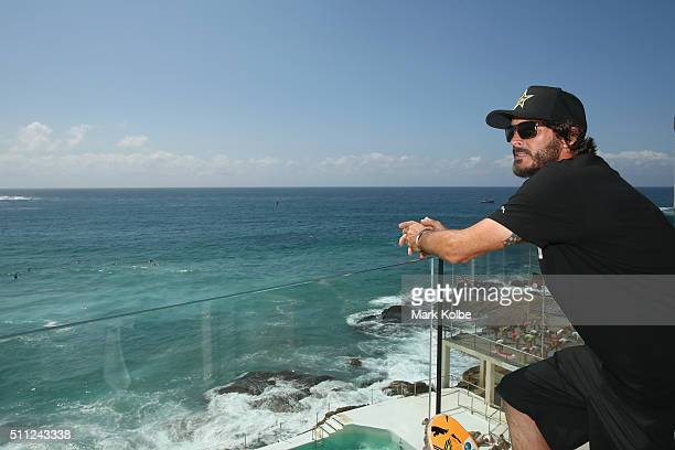Bucky Lasek poses after a press conference at Bondi Icebergs ahead of BowlARama at Bondi Beach on February 19 2016 in Sydney Australia