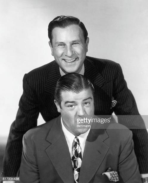 Bud Abbott and Lou Costello American comedy duo who reached the peak of their success in the late 1930's and 1940's Undated photograph