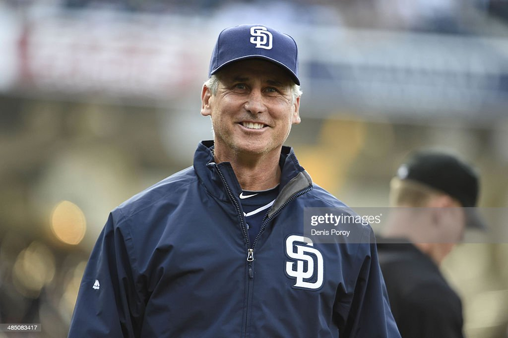 Bud Black manager of the San Diego Padres walks off the field before an interleague baseball game against the Detroit Tigers at Petco Park April 12...