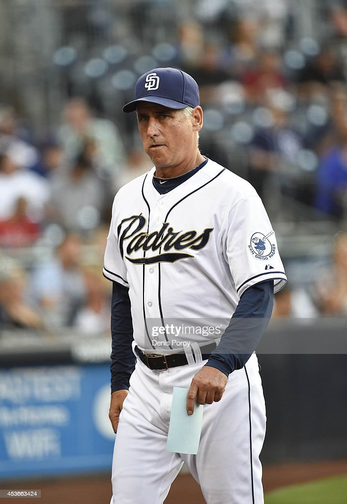 Bud Black of the San Diego Padres walks on the field before a baseball game against the Atlanta Braves at Petco Park on August 1 2014 in San Diego...