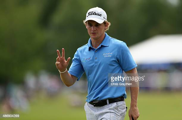 Bud Cauley on the 18th during Round Three of the Zurich Classic of New Orleans at TPC Louisiana on April 26 2014 in Avondale Louisiana