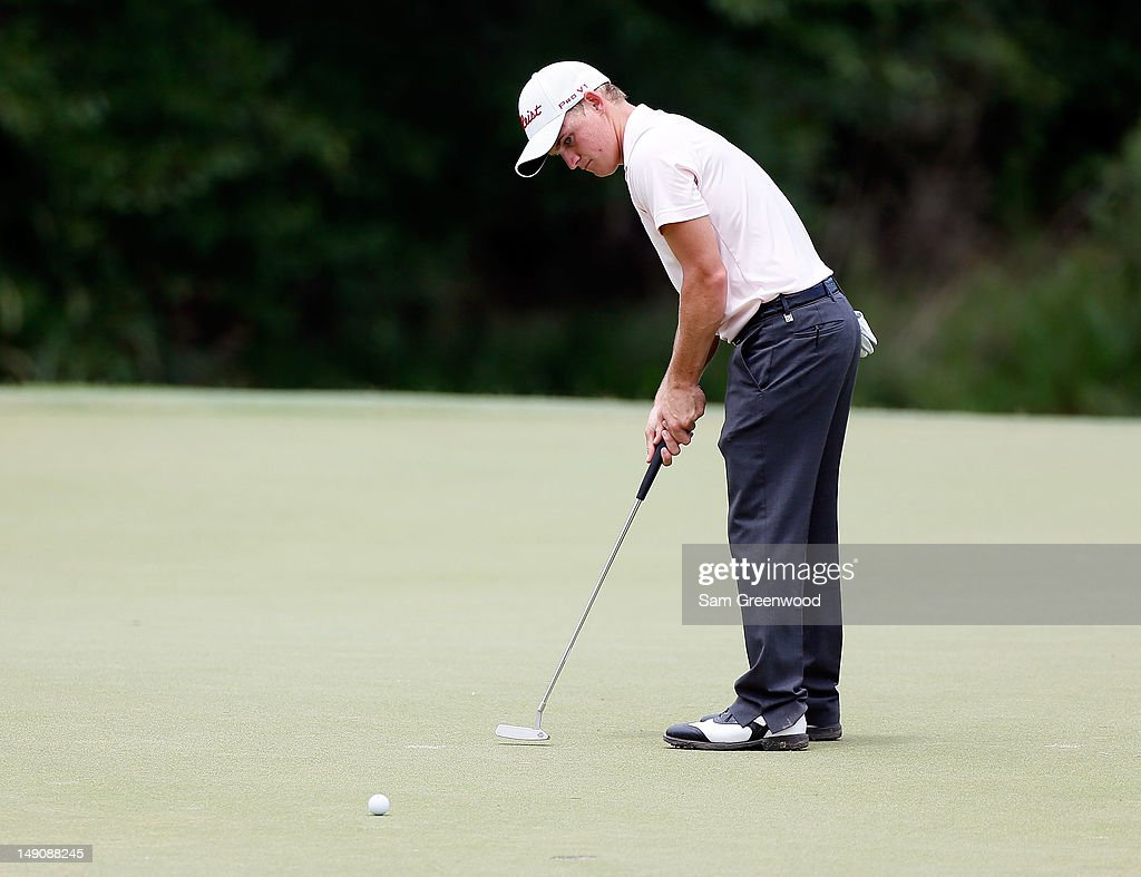 Bud Cauley plays a shot on the 6th hole during the final round of the True South Classic at Annandale Golf Club on July 22, 2012 in Madison, Mississippi.