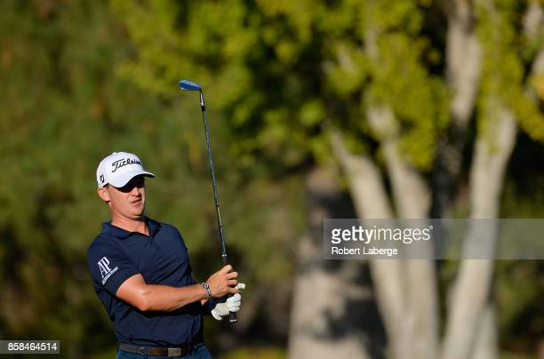 Bud Cauley plays his shot on the sixth hole during the second round of the Safeway Open at the North Course of the Silverado Resort and Spa on...