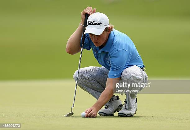 Bud Cauley putts on the 18th during Round Three of the Zurich Classic of New Orleans at TPC Louisiana on April 26 2014 in Avondale Louisiana