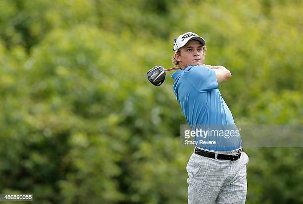 Bud Cauley tees off on the 2nd druing Round Three of the Zurich Classic of New Orleans at TPC Louisiana on April 26 2014 in Avondale Louisiana