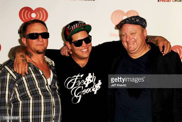 Bud Gaugh Rome Ramirez and Eric Wilson of Sublime with Rome poses in the press room at the iHeartRadio Music Festival held at the MGM Grand Garden...