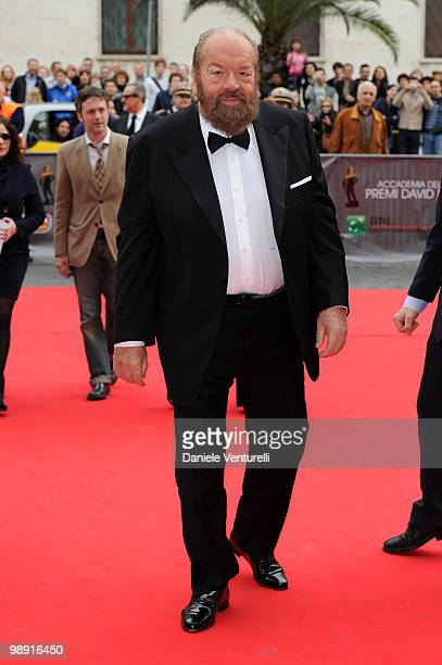 Bud Spencer attends the 'David Di Donatello' movie awards at the Auditorium Conciliazione on May 7 2010 in Rome Italy
