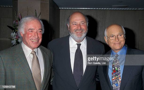 Bud Yorkin Rob Reiner and Norman Lear during The 6th Annual Lucy Awards Women in Film at Beverly Hilton Hotel in Beverly Hills California United...