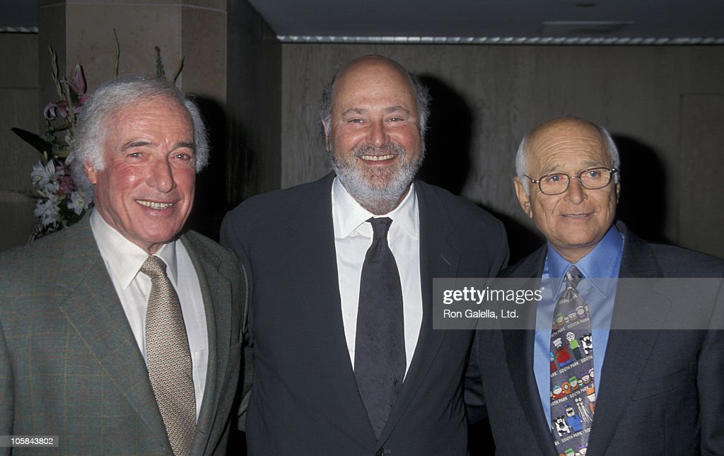 Bud Yorkin, Rob Reiner and Norman Lear during The 6th Annual Lucy Awards - Women in Film at Beverly Hilton Hotel in Beverly Hills, California, United States.
