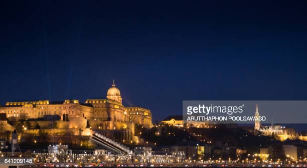 Buda Castle near danube river , Budapest , Hungary