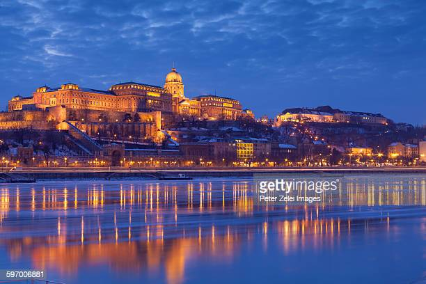 Buda Castle seen across the Danube