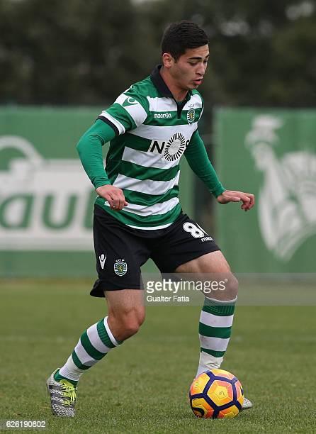Budag Nasyrov of Sporting CP B in action during the Segunda Liga match between Sporting CP B and FC Penafiel at CGD Stadium Aurelio Pereira on...
