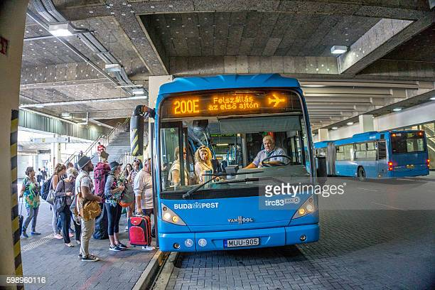 Budapest airport bus from end of Metro line