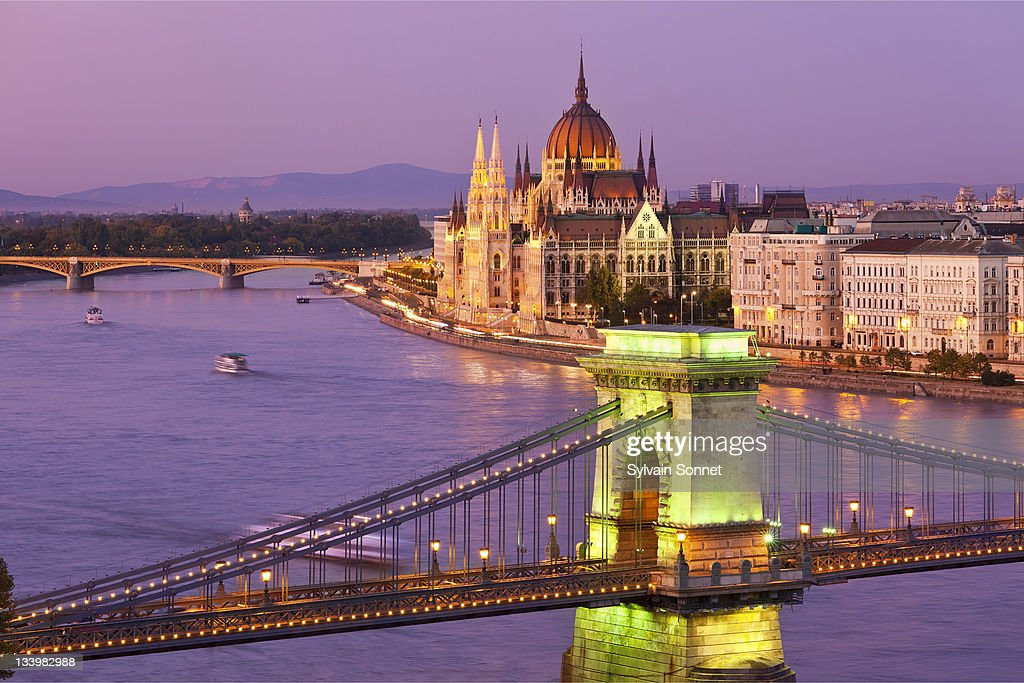 Budapest, Chain Bridge and Parliament Building