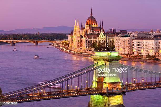 Budapest, Chain Bridge and Parliament Building