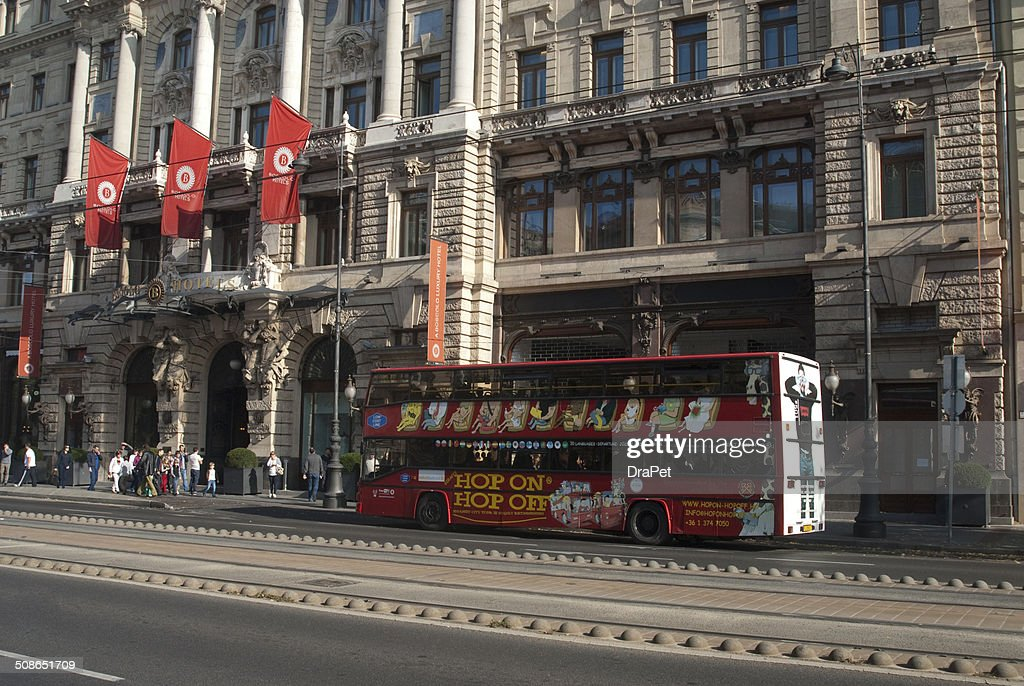 Budapest city street buildings : Stock Photo