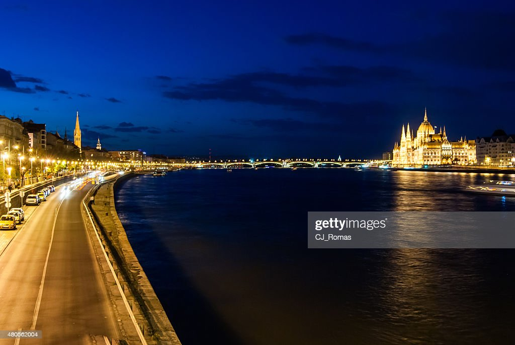 Budapest Cityscape at night. : Stock Photo
