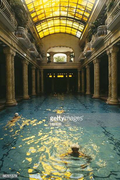 Budapest Covered swimming pool of the thermal baths of Gellert hotel unveiled in 1918 and built up in 1927