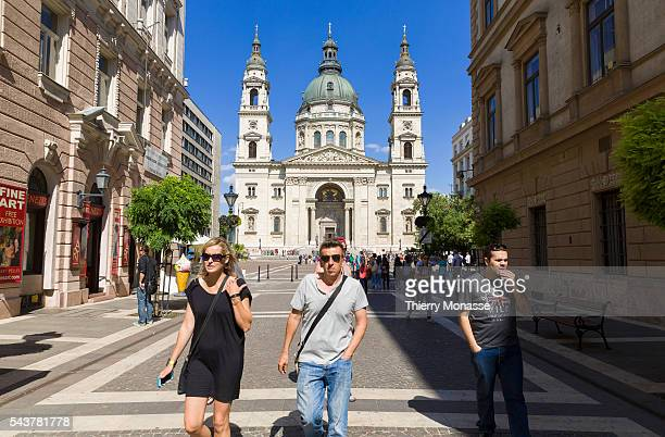 Budapest Hungary July 10 2015 The Saint Stephen's Basilica is a Roman Catholic basilica in Budapest Hungary It is named in honour of Stephen the...