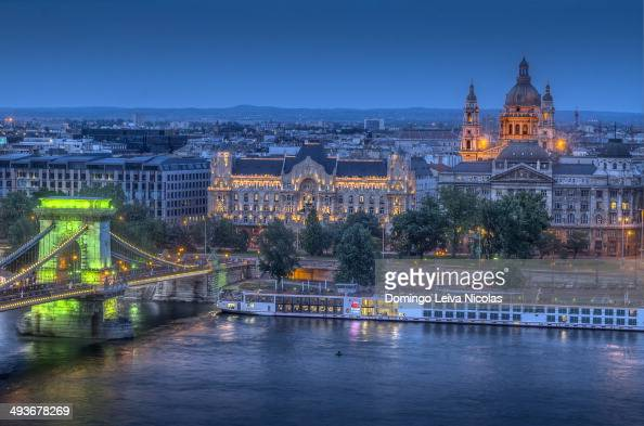 CONTENT] Budapest panorama on the Chain Bridge and the Danube River the Gresham Palace and the St Stephen's Basilica in the Pest district