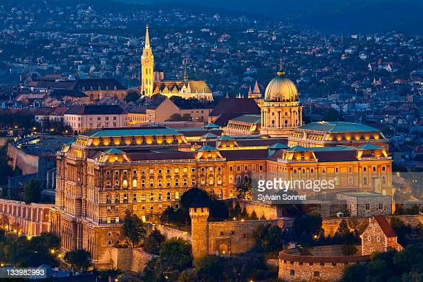 Budapest, Royal Palace and Matthias Church at Dusk