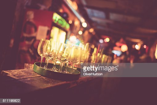 Budapest ruin bar faded : Stock Photo