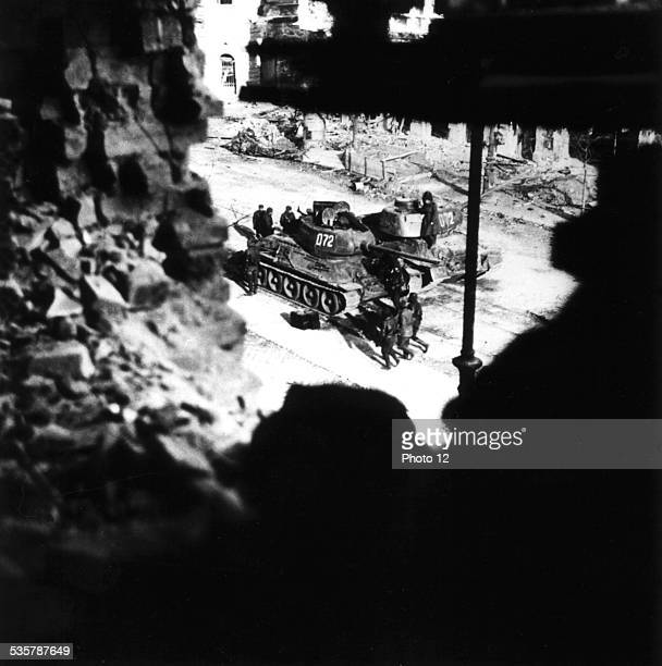 Budapest Russian soldiers waiting next to their tanks before charging at the crowd Hungary Hungarian uprising of 1956 National Archives Washington
