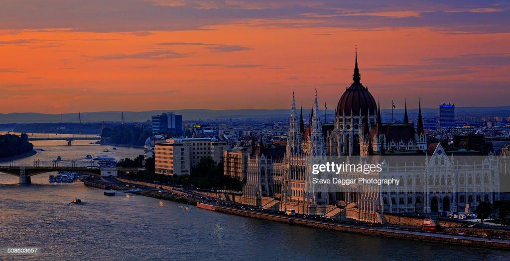 Budapest Sunset : Stock Photo