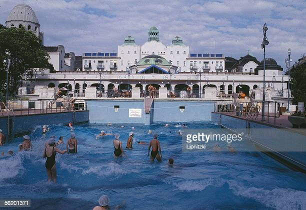 Budapest The thermal baths of Gellert hotel unveiled in 1918 and built up in 1927