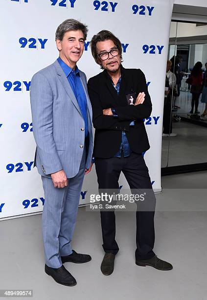 Budd Mishkin and Buster Poindexter attends 92nd Street Y Presents Buster Poindexter and NY1's Budd Mishkin at 92nd Street Y on September 21 2015 in...