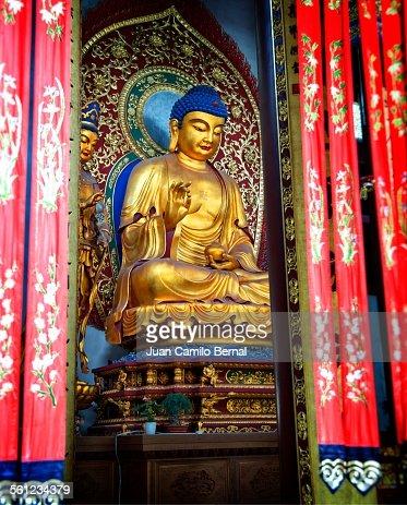Buddha at the Lingyin temple in Hangzhou, China