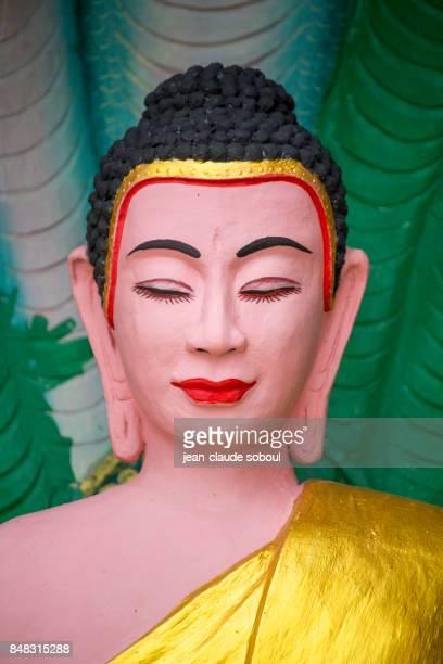 Buddha image in a temple (cambodia)