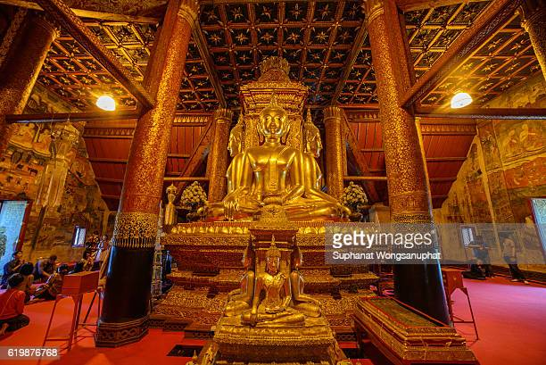 Buddha image in church of Wat Phumin, Nan, Thailand