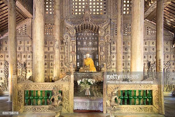 Buddha image in Shwenandaw monastery , Mandalay , Myanmar